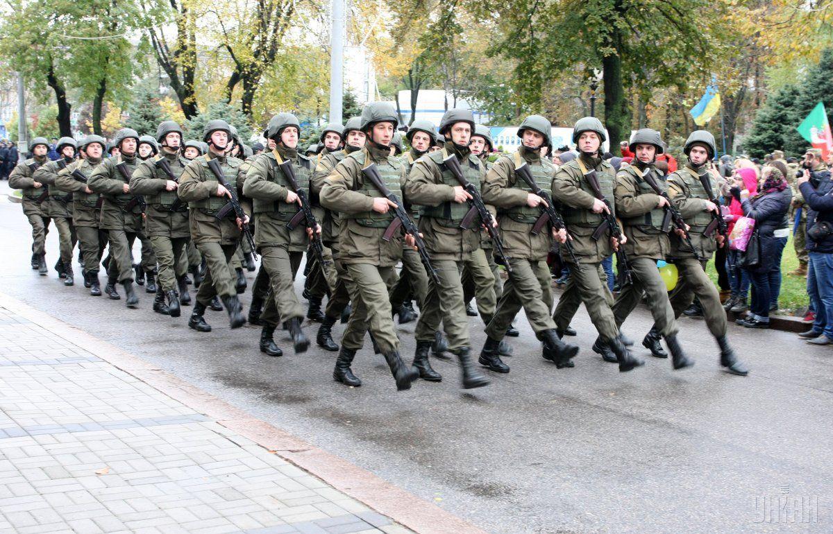 Марш ко Дню защитника Украины в Днепре / Фото УНИАН