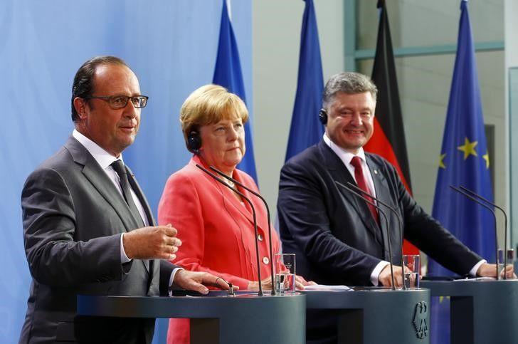 Олланд, Меркель, Порошенко / REUTERS