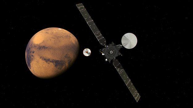 Модуль Schiaparelli здійснив посадку на Марс / esa.int