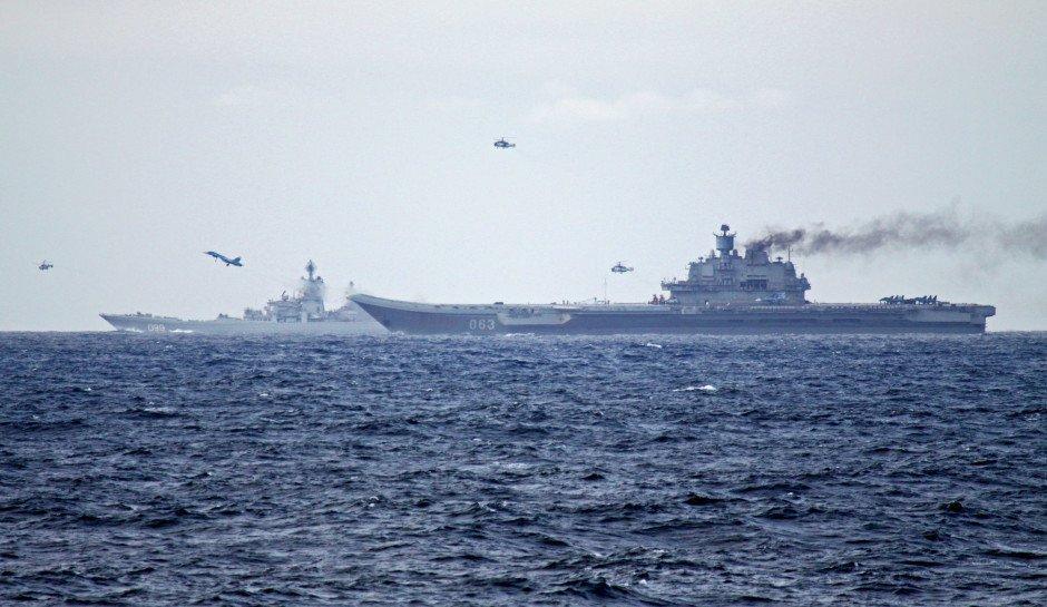 Британські кораблі вийшли назустріч російській авіаносній групі / twitter.com/miladvisor