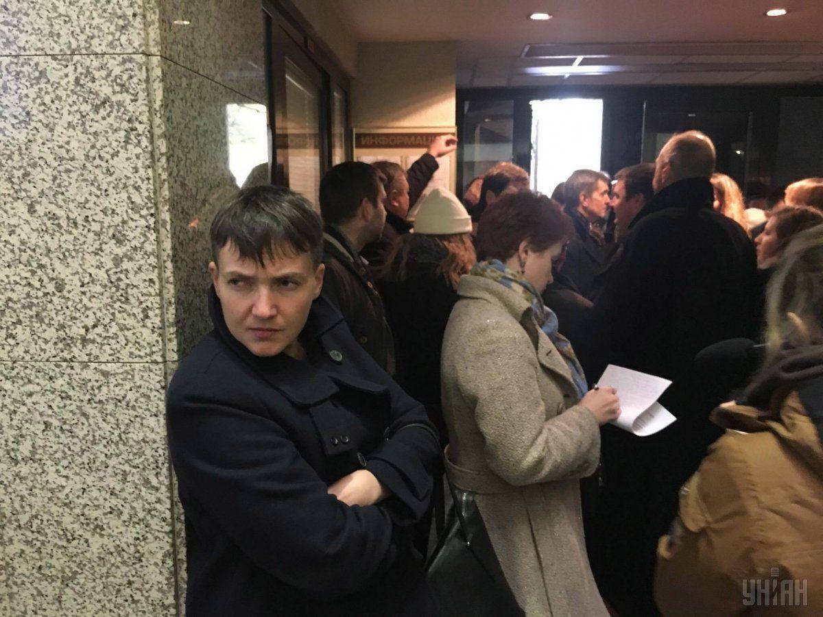 Надежда Савченко на суде в Москве / Фото УНИАН