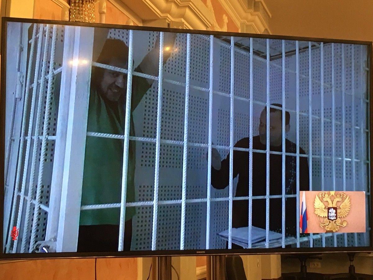 Карпюк і Клых присутні на суді по відеозв'язку / Фото УНІАН