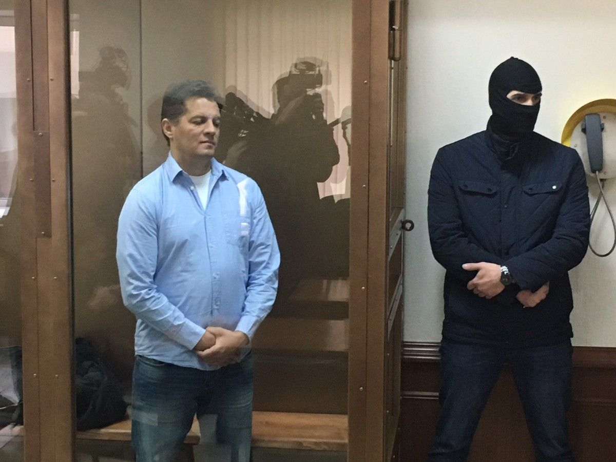 Сущенко на суді у Москві / УНІАН