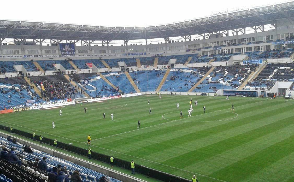 Футбольный чемпионат Украины установил новый антирекорд поколичеству созерцателей