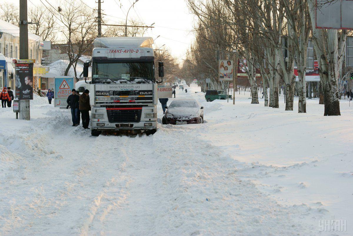 За даними ДСНС, заторів на дорогах не зафіксовано / Фото УНІАН