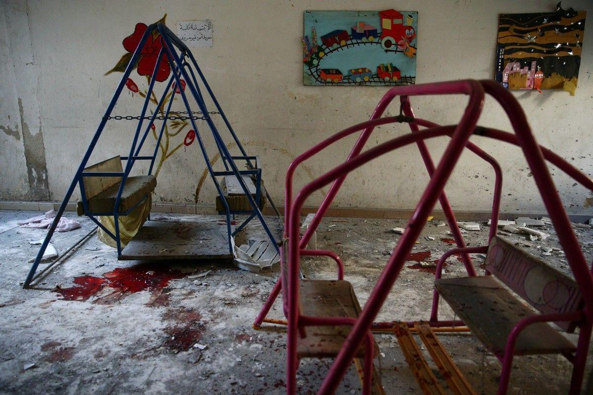 Наслідки удару по району Харестан провінції Дамаск / REUTERS
