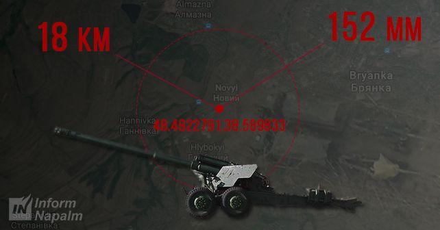 Аэроразведка зафіксувала переміщення 152-мм знарядь