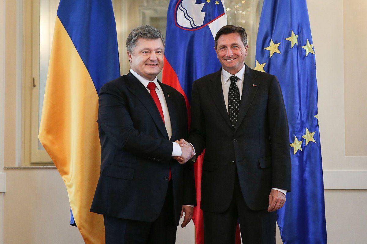 Розпочалися переговори президентів України та Словенії / twitter.com/stsegolko