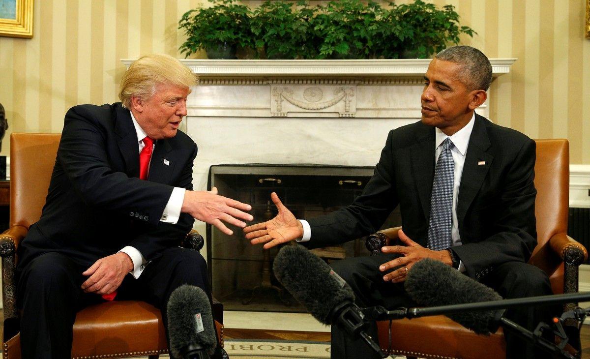 Дональд Трамп та Барак Обама / REUTERS