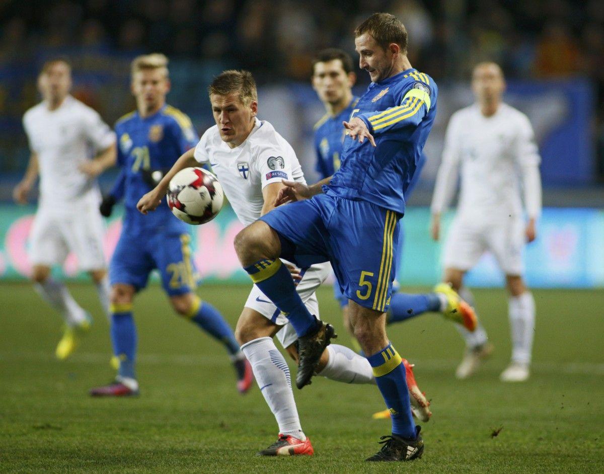 Сборная Украины обыграла Финляндию в Одессе