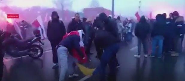 У Варшаві спалили український прапор під час Маршу незалежності