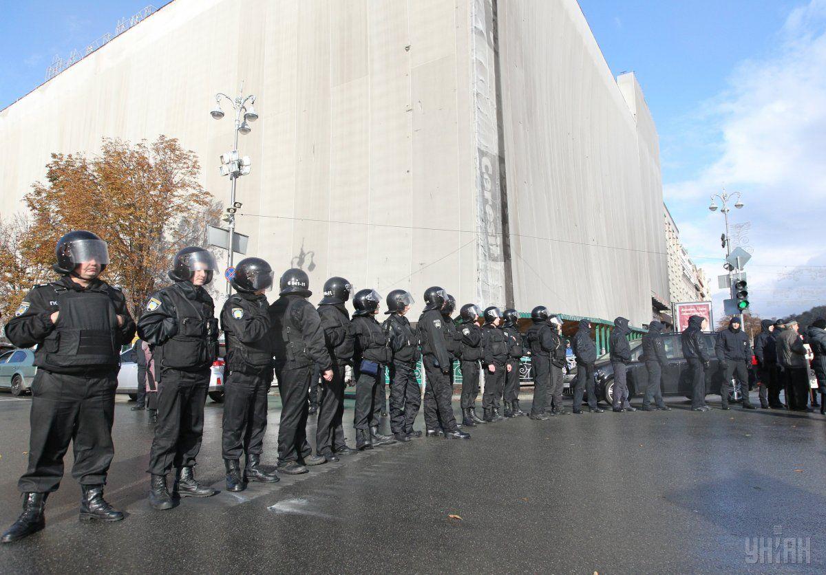 В центре Киева во время массовых акций будут обеспечивать правопорядок 5 тысяч правоохранителей / Фото УНИАН