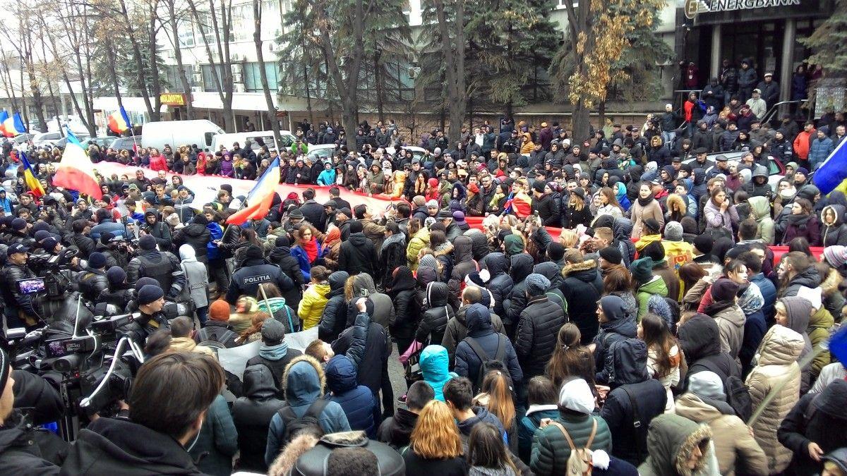 Количество митингующих увеличивается / фото jurnal.md