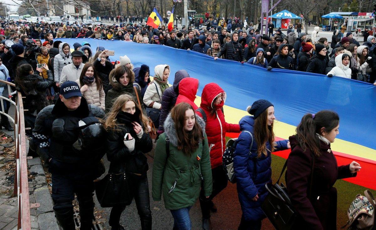 Акция протеста в Молдове / REUTERS