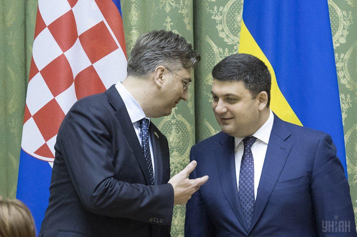 Украина готова посодействовать Хорватии строить LNG-терминал— Гройсман