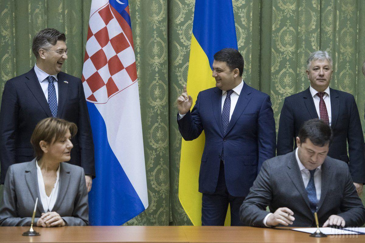 Украина заинтересована всотрудничестве сХорватией попоставкам газа