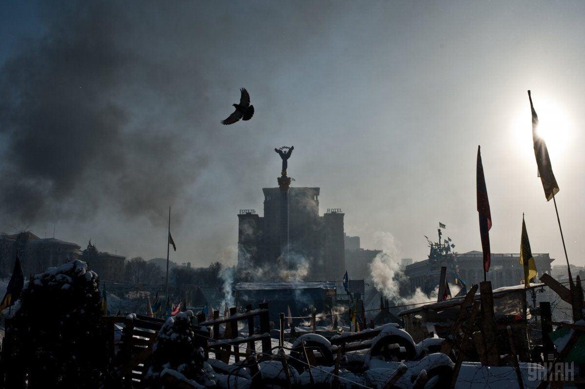 Майдан Независимости во время Революции достоинства. Фотоиллюстрация / УНИАН
