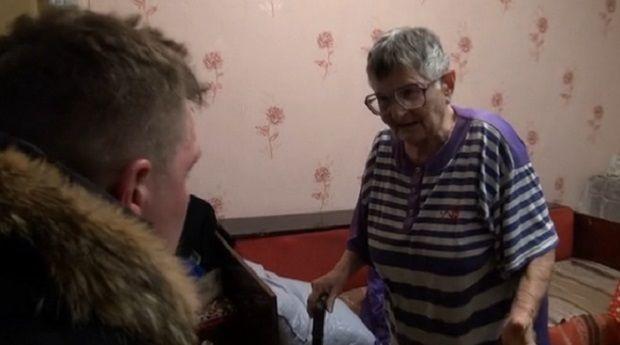 Жительница Донбасса Надежда Андреевна / Скриншот видео