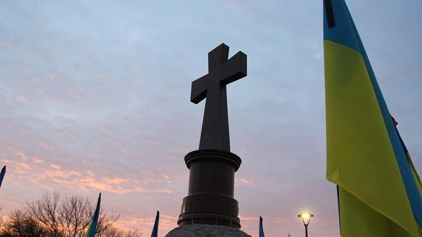 В Кропивницкому открыли памятник знак