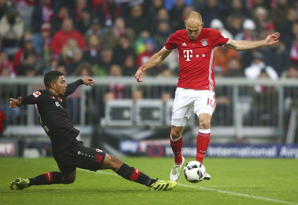 «Бавария» обыгрывает «Байер» ипродолжает погоню за«Лейпцигом»