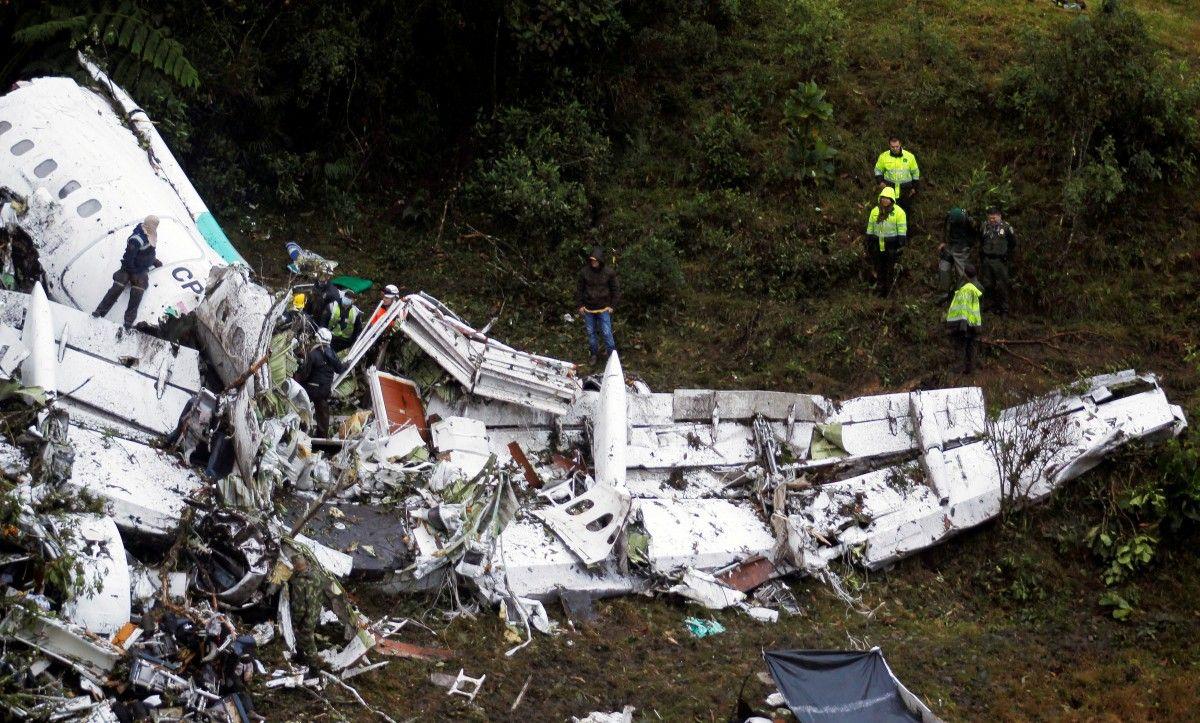 Названа причина крушения самолета сфутболистами вКолумбии