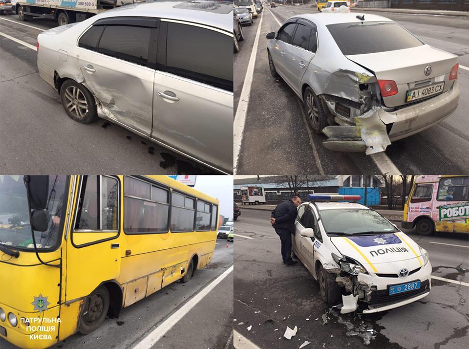 Водитель пытался скрыться на авто, затем - убежать в лес / Фото facebook.com/police.gov.ua