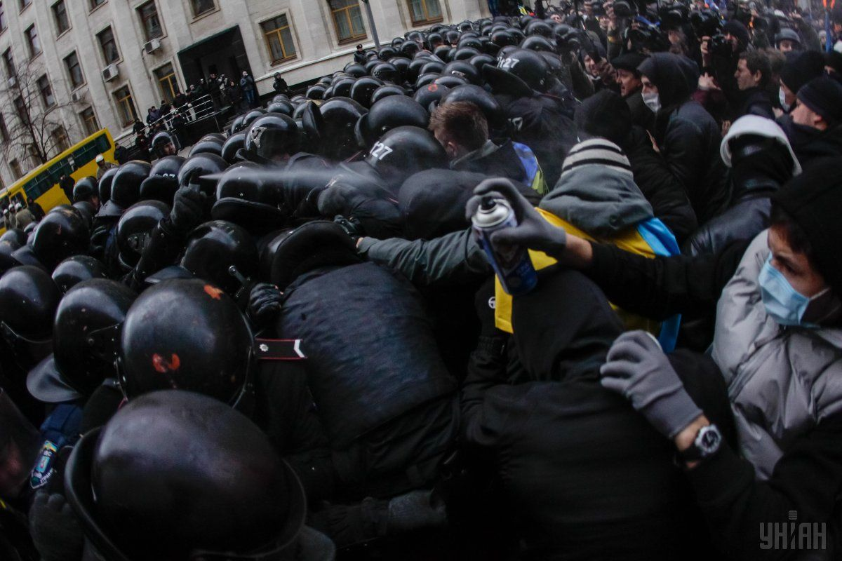 Perevoznyk did not witness Berkut rushing through the lines of internal forces / Photo from UNIAN