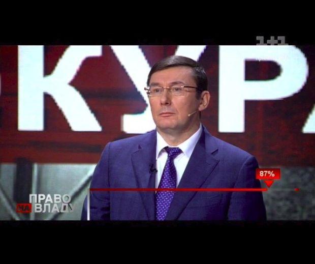Луценко в эфире программы