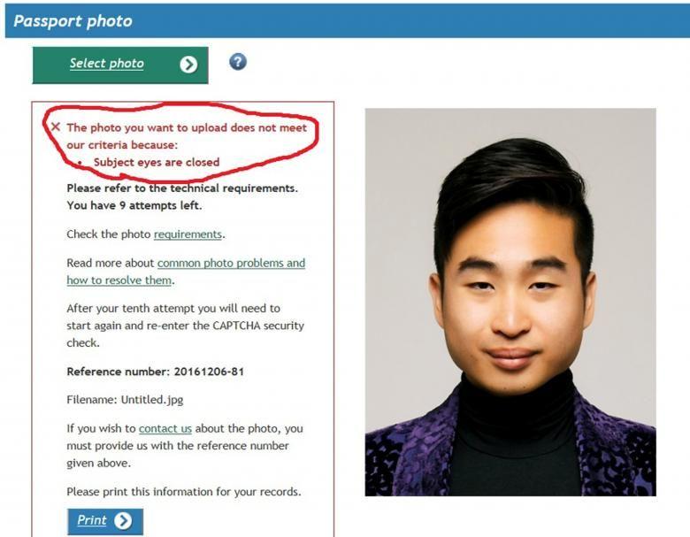 В новейшей Зеландии робот нехотел выдавать азиату паспорт из-за «закрытых глаз»