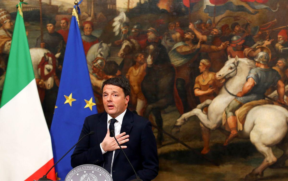 Итальянский президент принял отставку премьера страны Маттео Ренци