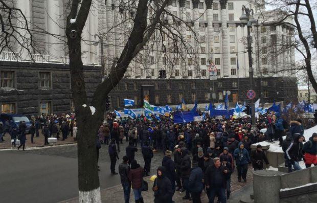 Мітингувальники перекрили вул. Грушевського / twitter.com/S_Andrushko