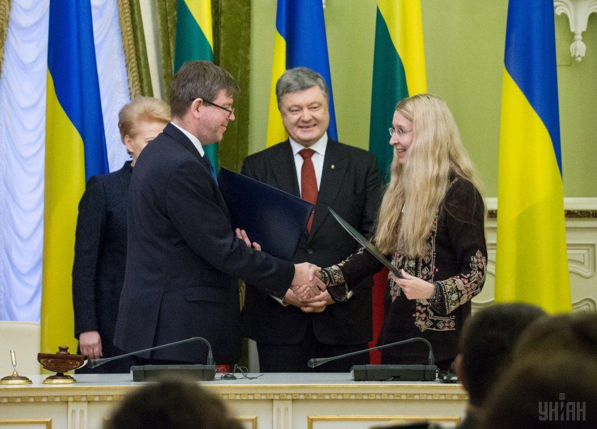 Украина иЛитва подписали ряд двусторонних договоров