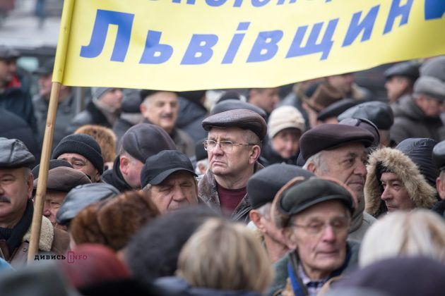 Пенсионеры вышли с требованием перерасчета пенсионного обеспечения / dyvys.info