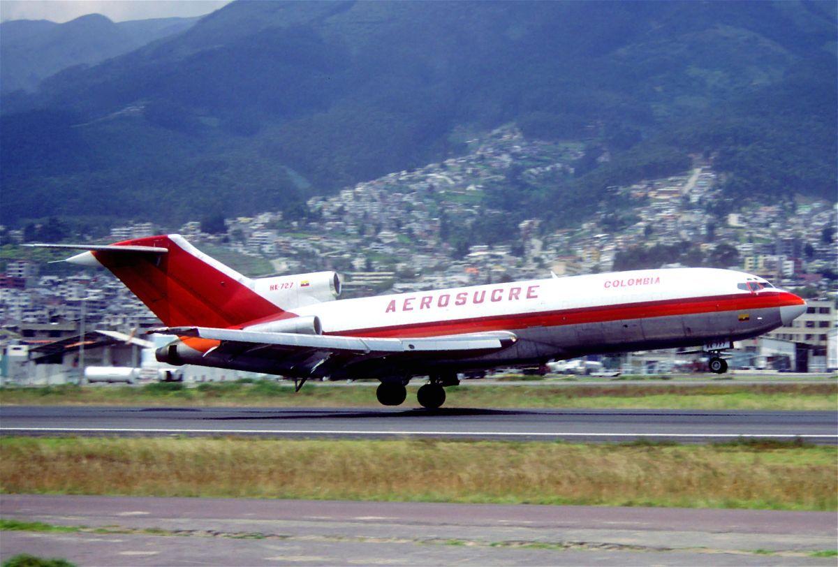 ВКолумбии разбился Boeing 727: видео сместа