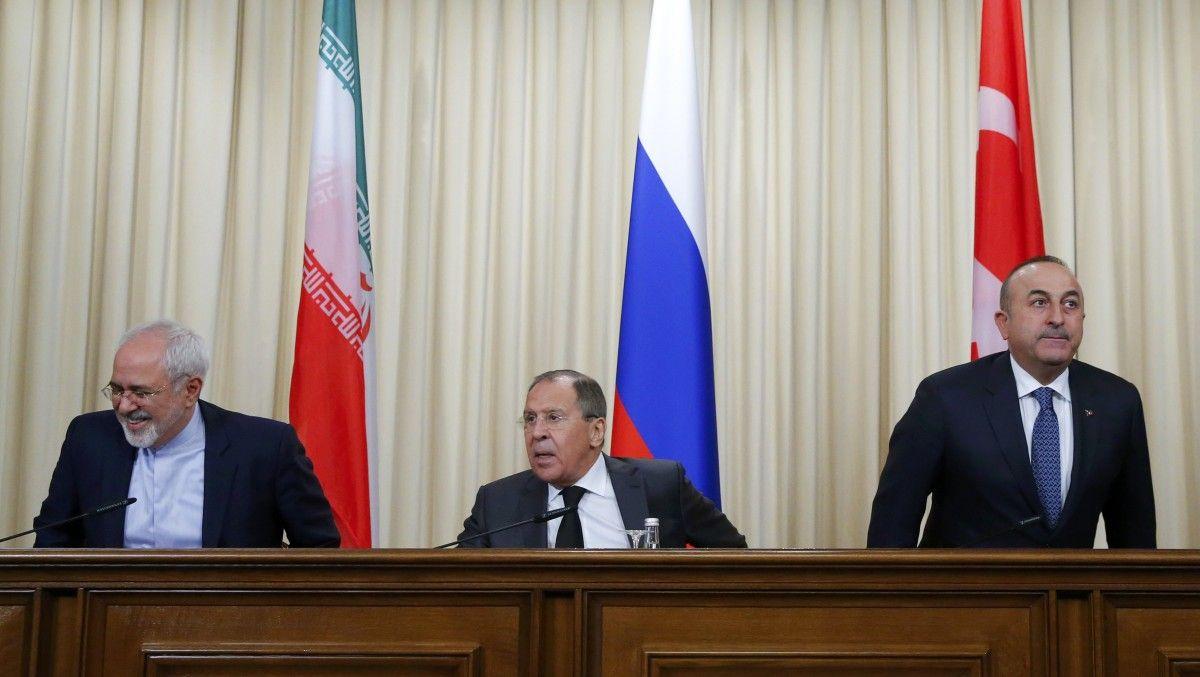 Главы МИД Ирана, России и Турции / REUTERS