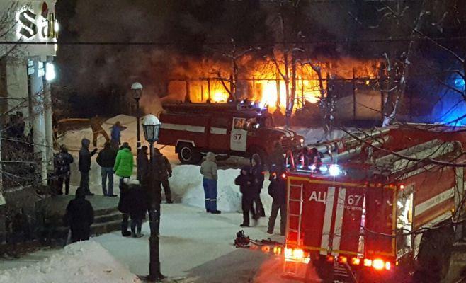 Одна изверсий обстоятельств пожара вчистопольском ЦУМе— поджог