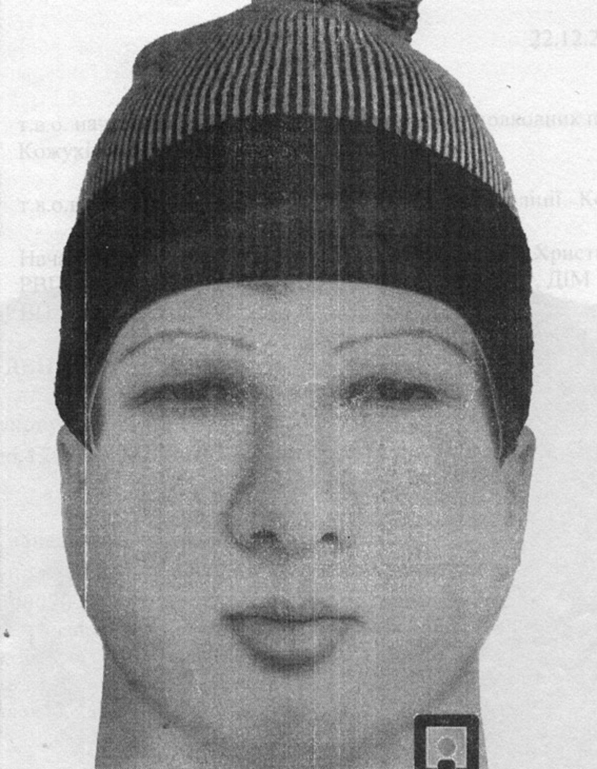 Фоторобот ймовірного нападника на синагогу / ГУ НП України у Черкаській області