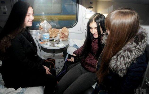 12декабря из украинской столицы наюгстраны отправился четвертый поезд «Трухановская Сич»