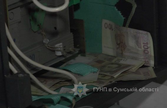 ВСумах взорвали банкомат ипохитили кассеты сналичными деньгами