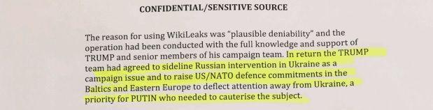 Трамп согласился забыть об Украине в обмен на действия хакеров / Скриншот из доклада