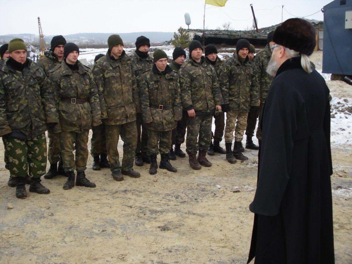 Мета поїздки - духовно-пастирська опіка українських воїнів / Центр інформації УПЦ