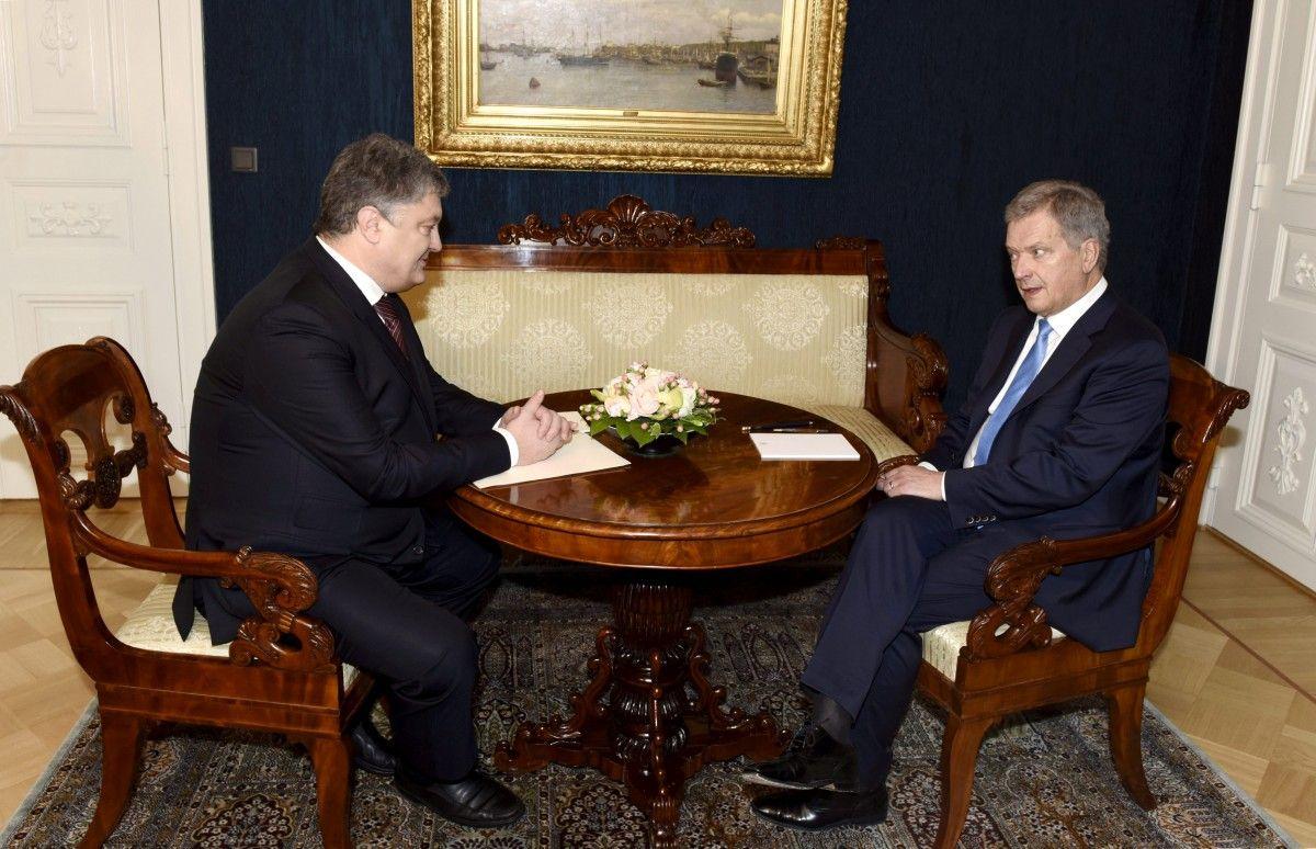 Порошенко начал официальный визит вФинляндию
