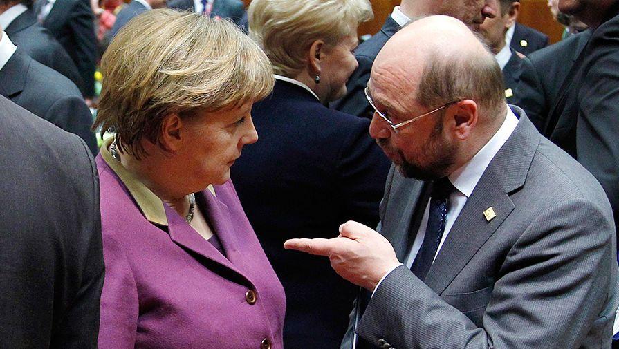УШульца иМеркель одинаковый уровень поддержки среди германцев - опрос