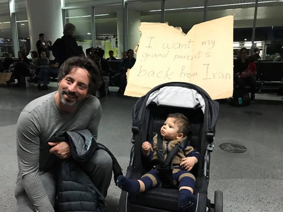 «Ятоже беженец»: основатель Google Сергей Брин бунтует против Трампа