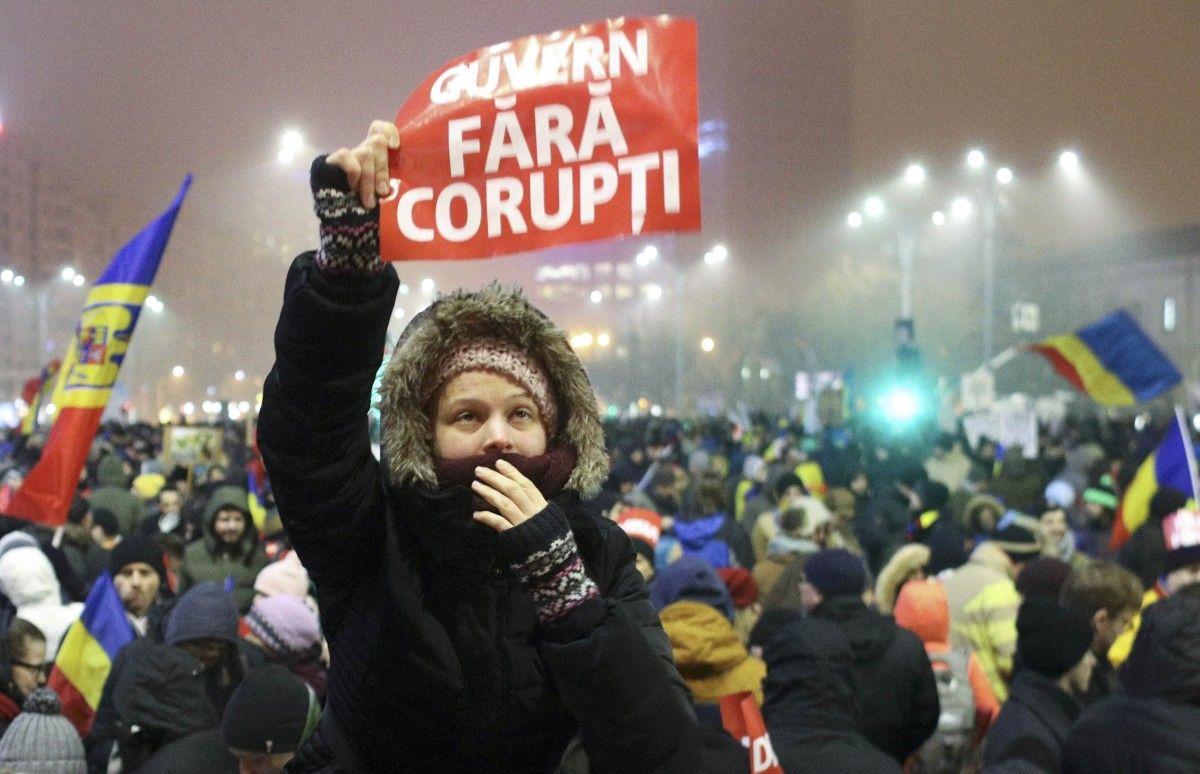 ВРумынии продолжились массовые демонстрации против коррупции