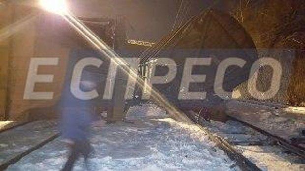 ВКиеве вСоломенском районе столкнулись два грузовых поезда