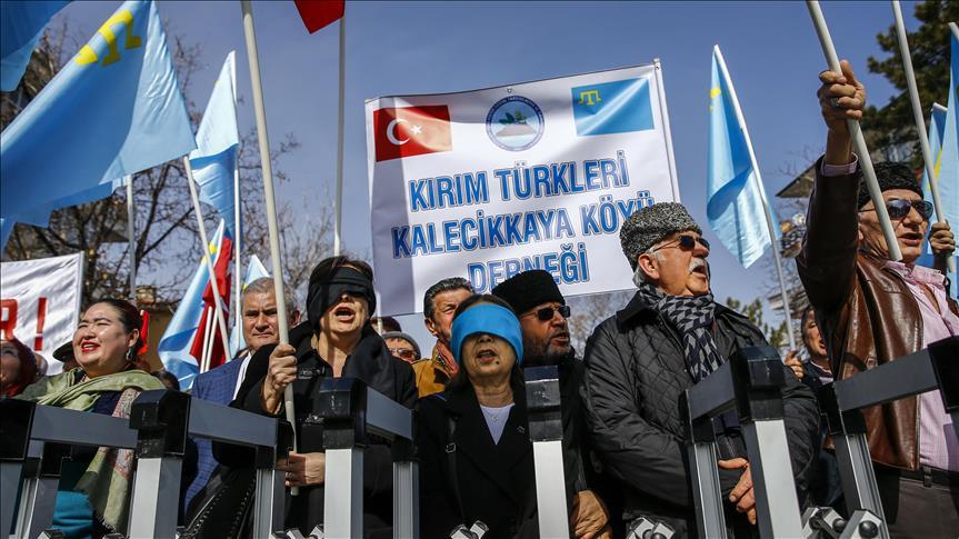 ВАнкаре провели акцию против присоединения Крыма к Российской Федерации