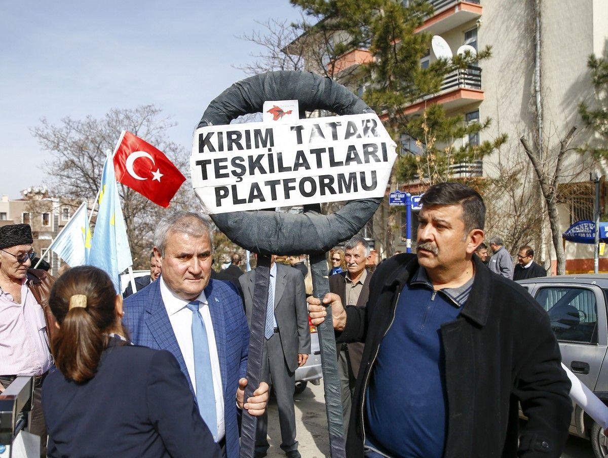 ВТурции под русским посольством протестовали против оккупации Крыма