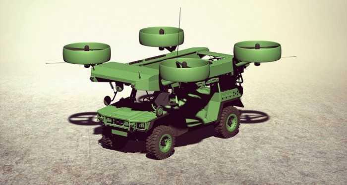ВУкраине представили концепт летающего бронеавтомобиля