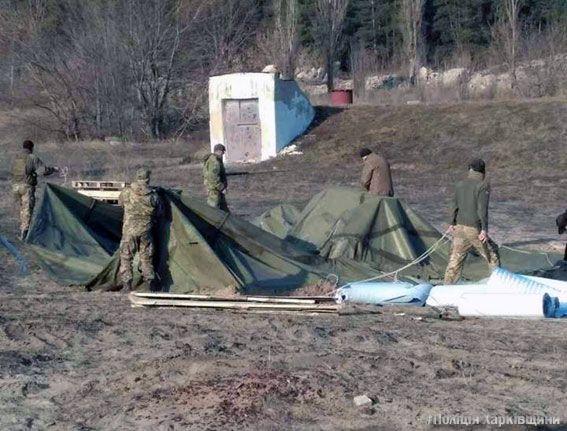ВХарьковской области активистам блокады недали установить очередной «редут»